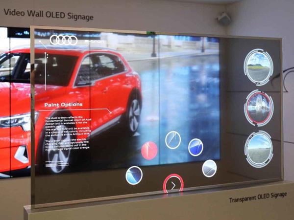 触控透明OLED 屏
